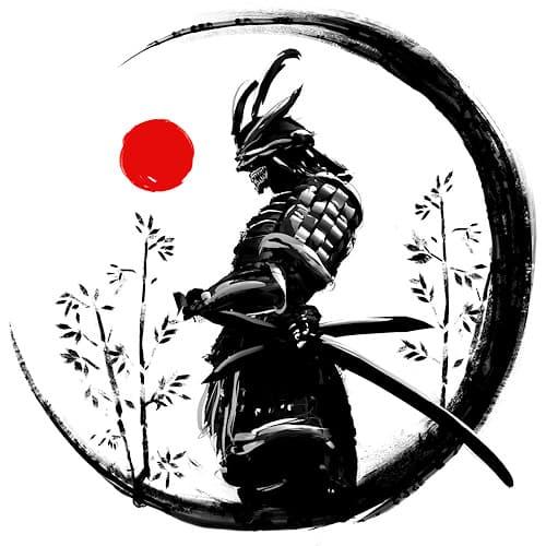 Le nouveau Rock Hard est arrivé - Page 28 Samourai-japon-katana-armure-peinture-aquarelle-rouge-noire-500x500